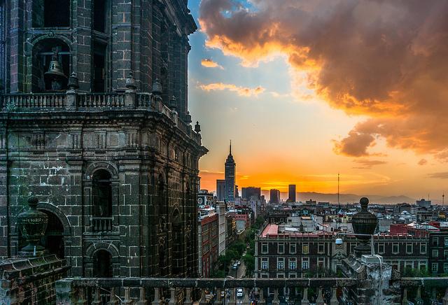 Déménager au Mexique - Coucher de soleil sur Mexico City