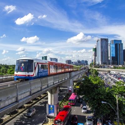 Transports en Thailande: le skytrain